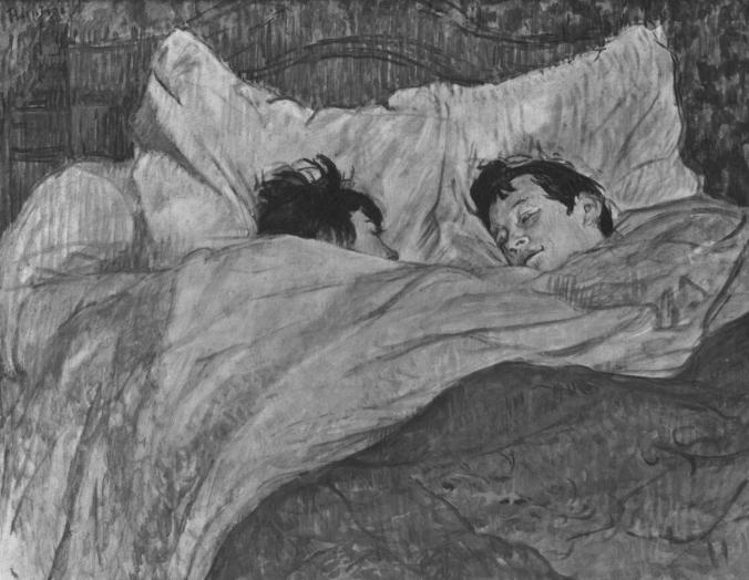 """""""La cama"""" de Henri de Toulouse Lautrec"""